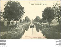 51 SAINT MARTIN SUR LE PRE. Péniche Sur Le Canal. Biscuits Georges - Autres Communes