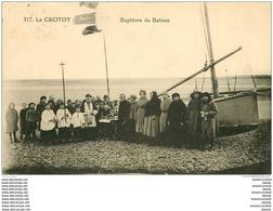80 LE CROTOY. Baptême D'un Canot 1922. Pêcheurs Et Métiers De La Mer - Le Crotoy