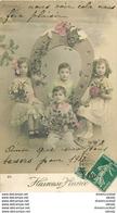 Fantaisie ENFANTS. Bonne Année Avec Fer Porte Bonheur 1912 - Enfants