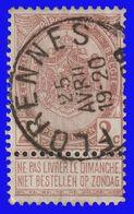 """COB N° 55 - Belle Oblitération """"FLORENNES"""" - 1893-1900 Schmaler Bart"""