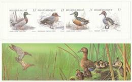 D - [152913]TB//**/Mnh-[B19] Belgique 1989, Nature, Animaux, Oiseaux, Canards, Carnet Complet Replié, , SNC - Anatre