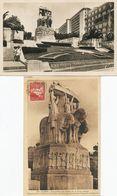 Monument Morts Alger 2 CP Architectes Maurice Gras Et Edouard Monester Sculpteur Landowski Et Bigonet - Monuments