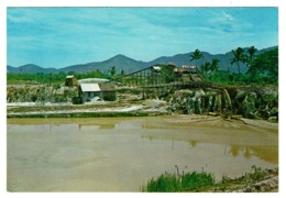 Ref 1386 - Postcard - A Tin Mine Palong - Kuala Lumpur Malaysia - Malesia