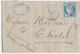 "Rhône : BR ""D"" = Mardore, GC 3942 + T17 Thizy Sur LAC 1874 (2 Scans) - 1849-1876: Periodo Classico"