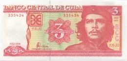 Cuba : 3 Pesos 2004 Che Guevara (très Bon état) - Cuba