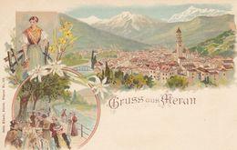 MERAN-MERANO-BOZEN-BOLZANO-GRUSS AUS-CARTOLINA LITOGRAFICA NON VIAGGIATA ANNO 1898-1904 - Merano