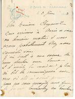 D64. LOT DE 2 LETTRES A EN-TÊTE Cie Gle TRANSATLANTIQUE A BORD DU NIAGARA ET DU ROCHAMBEAU 1912 1913 - Boats