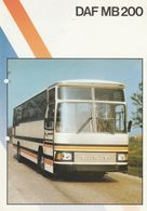Brochure-leaflet DAF BUS Eindhoven MB200 Coach-tourbus-car De Tourisme-reisebus - Trucks