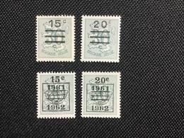1960. OBP 1172 / 73A ** .MNH . Voorafstempeling Gewijzigde Waarden. - Unused Stamps