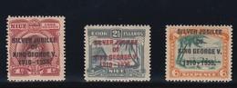 COOK ISLANDS NIUE 1935 SILVER JUBILEE  SG 113/115  MLH CV £13 - Cook Islands