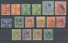 D - [202503]TB//O/Used-c:18e-Pays-Bas 1924-27, Wilhelmine, Petit Lot Dont TB Obl, C:+18e - 1891-1948 (Wilhelmine)