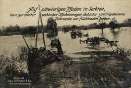 RPPC 17*12cm SERBIEN ZERSTORTER SERBISCHE KUCHENWAGEN SERBEN  Paul Hoffmann 1914/15  WWI WWICOLLECTION - Serbia