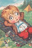 Cpm 10x15 . Enfant Aux YEUX QUI BOUGENT  (la Sieste Après Un Pique-nique Aux Boîtes De Conserve ) - Sin Clasificación