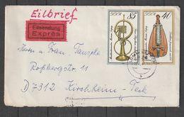 """DDR / 1979 / Mi. 2446 """"Musikinstrumente"""" MiF Auf Expressbrief (CB56) - Cartas"""