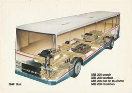 Brochure-leaflet DAF BUS Eindhoven MB 200 Coach-tourbus-car De Tourisme-reisebus - Camion