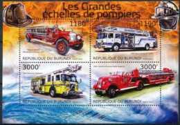 D - [32605]SUP//**/Mnh-c:19e-BURUNDI 2012 - Les Grandes échelles De Pompiers, Camions - Pompieri