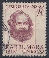 CZECHOSLOVAKIA 1777,used - Karl Marx