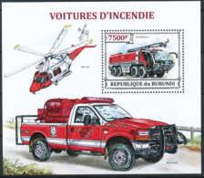 D - [33216]SUP//**/Mnh-c:17e-BL372 Yvert, Les Voitures D'incendie, Pompiers - Burundi