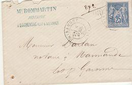 Lot Et Garonne : ESC 25c Sage/T17 Miramont, OR = Soumensac 1878 - 1877-1920: Période Semi Moderne