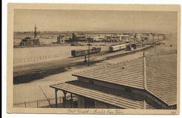 SUEZ-PORT TEWFIK - Vue à Vol D'oiseau...  Animé  Trains - Suez