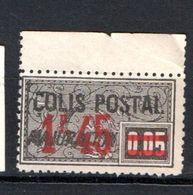 FRANCE COLIS POSTAL N° 40 1F 42 S 5C NOIR  MAJORATION NEUF SANS GOMME - Neufs