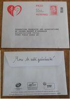 PAP Réponse Fédération Française Associations De Chiens Guide D'Aveugles - Agrément 249000 / Marianne L'Engagée Yseult - Prêts-à-poster:reply