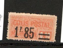 FRANCE COLIS POSTAL N° 42 1F85 S 10C ORANGE TYPE  MAJORATION NEUF SANS GOMME - Neufs