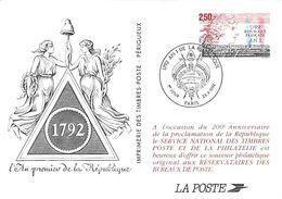 Carte Maximum (card) France N°2771 Bicentenaire De La Révolution 1792, An I De La République Française - Postal Stamped Stationery