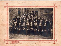 Photo D'un Mariage Des Années 1920-30, Photographe Mercier-Hupel, Horlogerie-bijouterie, Bain 35, 18 X 24 Cm - Personnes Anonymes