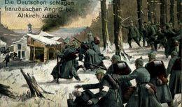 Die Deutschen Schalagen Französischen Angriff Bei Altkirch Zurück.   WWI WWICOLLECTION - War 1914-18