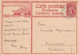 SUISSE  1929    ENTIER POSTAL/GANZSACHE/POSTAL STATIONARY CARTE ILLUSTREE DE ASCONA - Stamped Stationery