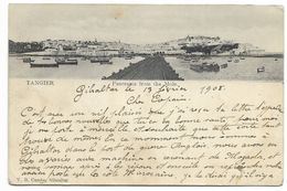 TANGER - Panorama From The Mole...1908  Animé  (coin Pli) - Tanger