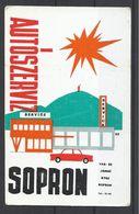 Hungary, Sopron, Car Service Ad, 1970. - Formato Piccolo : 1961-70