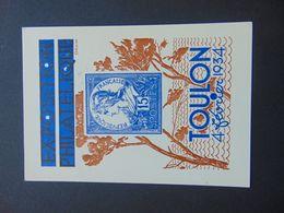 Très Belle Carte Postale Déssinée Par Draim Pour L'expo Philatélique De Toulon De 1934 Affranchie Avec Paire Du N°. 278 - Postal Stamped Stationery
