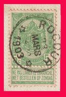 """COB N° 56 / Fragment - Belle Oblitération DR """"ROCOURT"""" - 1893-1900 Fine Barbe"""