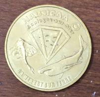 62 BOULOGNE SUR MER LA MER EST SUR TERRE NAUSICAÀ  MEDAILLE TOURISTIQUE MONNAIE DE PARIS 1998 JETON MEDALS COINS TOKENS - Monnaie De Paris