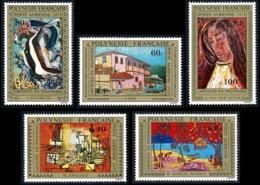 POLYNESIE 1975 - Yv. PA 98 99 100 101 Et 102 ** TB  Cote= 55,00 EUR - Tableaux D'Artistes Polyn. (5 Val) ..Réf.POL25172 - Poste Aérienne