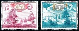 POLYNESIE 1976 - Yv. PA 104 Et 105 **   Cote= 11,70 EUR - Indépendance Des Etats-Unis (2 Val.)  ..Réf.POL25174 - Poste Aérienne