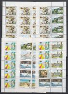 Guernsey 1984/1985 Definitives / Landscapes 6 Booklet Panes  ** Mnh (48742) - Guernsey