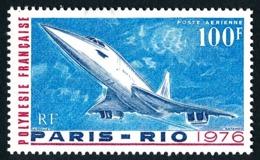 POLYNESIE 1976 - Yv. PA 103 **   Cote= 22,00 EUR - Avion Concorde : 1er Vol Commercial  ..Réf.POL25173 - Poste Aérienne