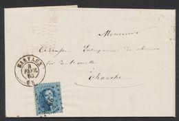 Médaillon Dentelé - N°15 Sur LAC Obl Pt 29 çàd Barvaux 3/2/65 > Esneux. - 1863-1864 Medaillons (13/16)