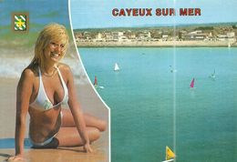 ( CAYEUX SUR MER )( 80 SOMME ) ( PIN UPS ) VUE GENERALE DE LA PLAGE - Pin-Ups