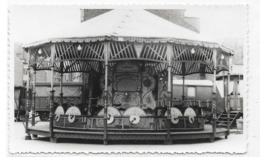 Superbe Photocarte D'un Carrousel à Cuesmes    (Manège, Foire, Forain) - Spectacle