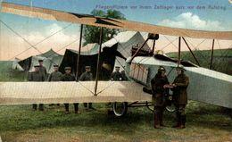 Fliegeroffiziere Vor Ihrem Zeltlager Kurz Vor Dem Aufstieg.   WWI WWICOLLECTION - Weltkrieg 1914-18