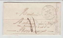 GERS: NOGARO CàD Type 12 + TM 4 / LAC De 1835 Pour Bordeaux - Marcophilie (Lettres)