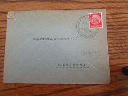 2 Lettres DEUTSCHES REICH Oblitérées En 1941 De EUPEN Et MALMEDY (retour à La Grande Allemagne) - WW II