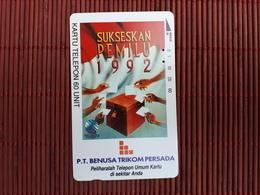PHONECARD INDONESIA  60 UNIT USED Rare - Indonesia