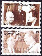 Dominica - 80. Geburtstag Von Willy Brandt (MiNr: 1715/6) 1993 - Postfrisch MNH - Dominica (1978-...)