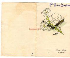 Menu Jean Marie Paulette Desvaux 1957 Communion - Menus