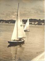 HOSSEGOR > 2 Photos Originales 1948 - Voiliers Sur Le Lac - Hossegor